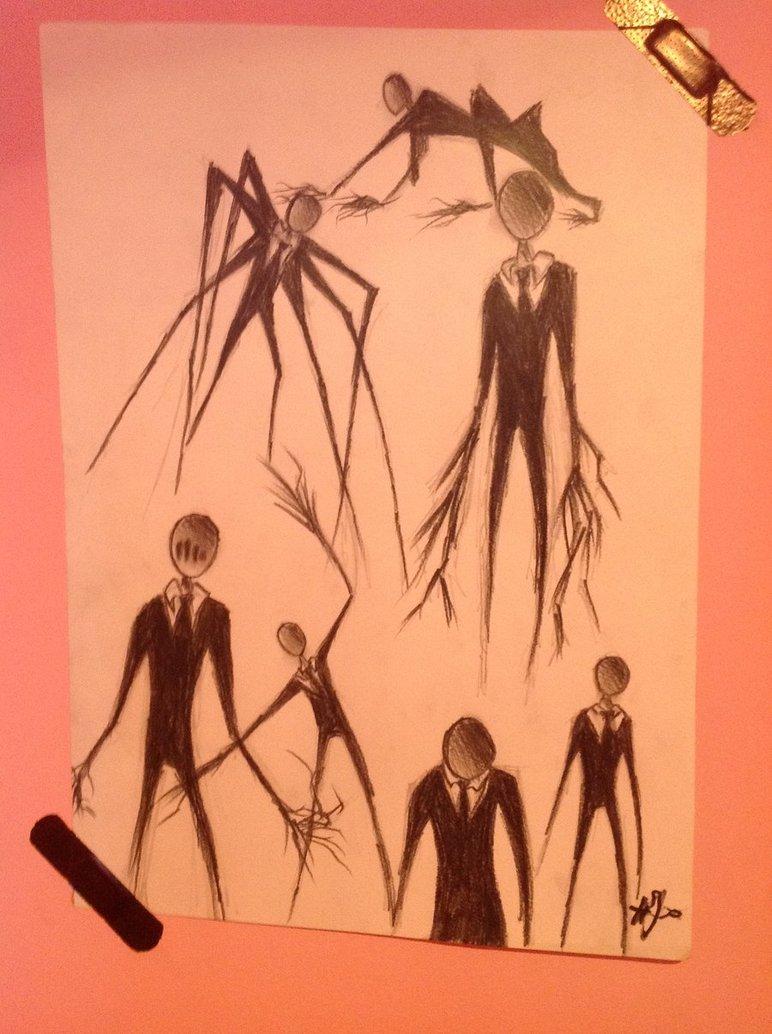 Drawn slenderman couple sketch On by slender DeviantArt UnfortuneMelody