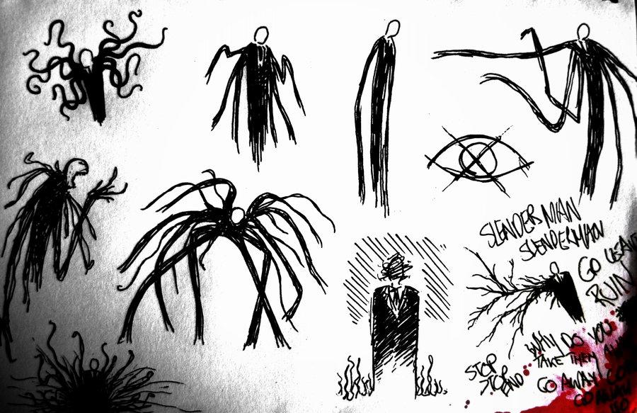 Drawn slenderman deviantart Sketches Slender by Man man
