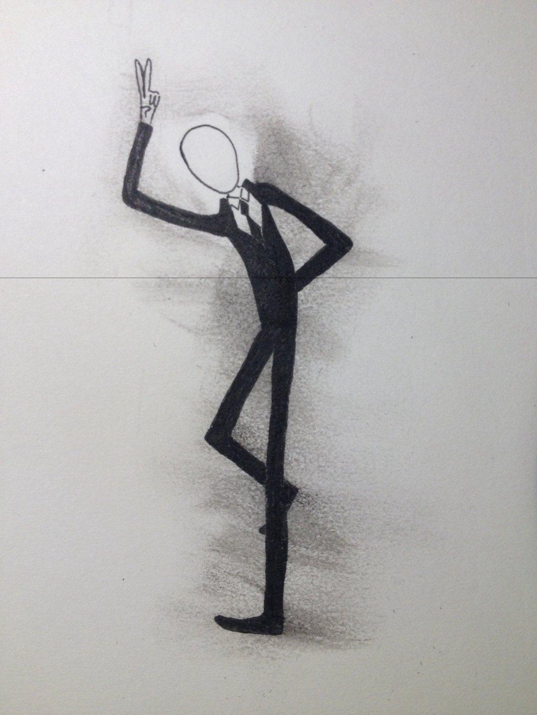 Drawn slenderman happy Finelinerkid slenderman finelinerkid slenderman on