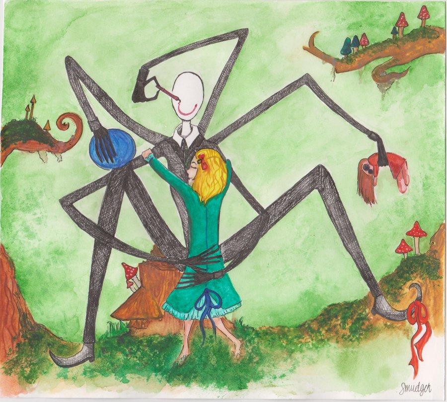 Drawn slenderman happy Marionettilapsi Slenderman DeviantArt Slenderman by