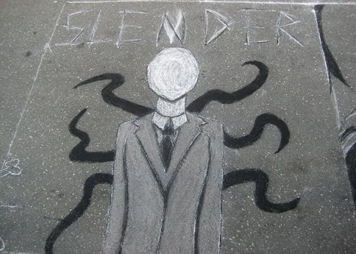 Drawn slenderman happy Trevor folklore killings: young Man