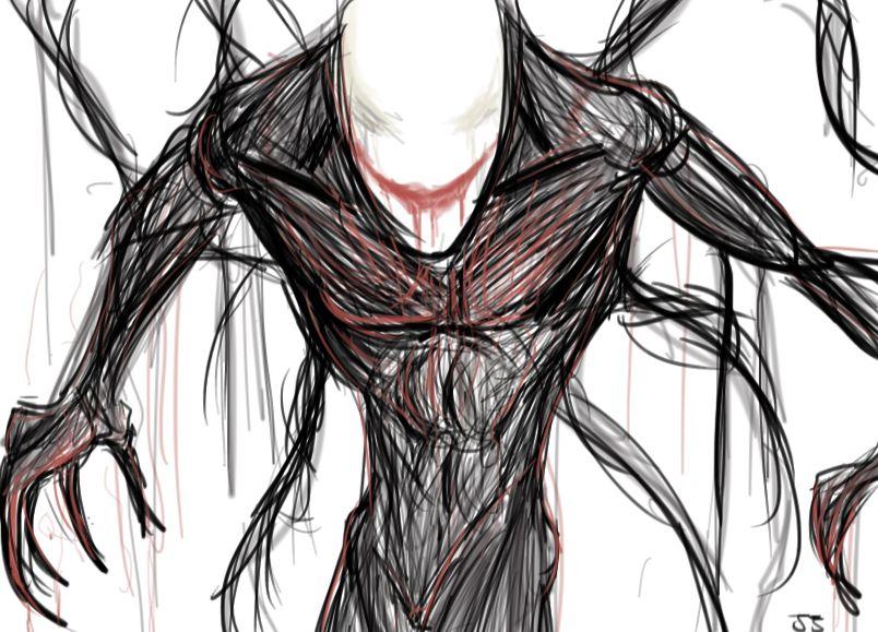 Drawn slenderman happy Man Halloween: jjhu man on