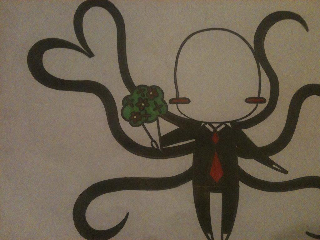 Drawn slenderman happy ! Valentine's by Day on