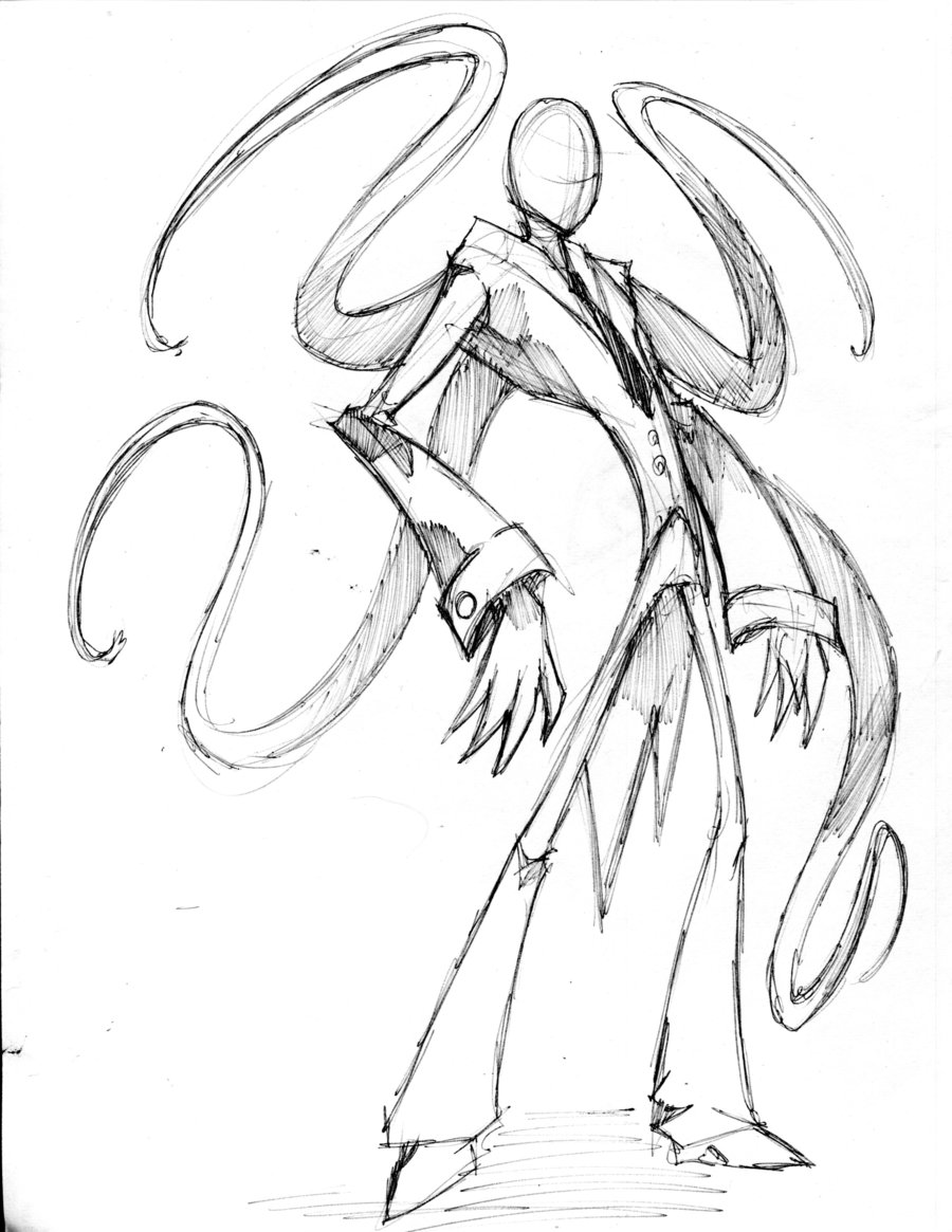 Drawn slender man deviantart By slenderman slenderman sketch winddragon24
