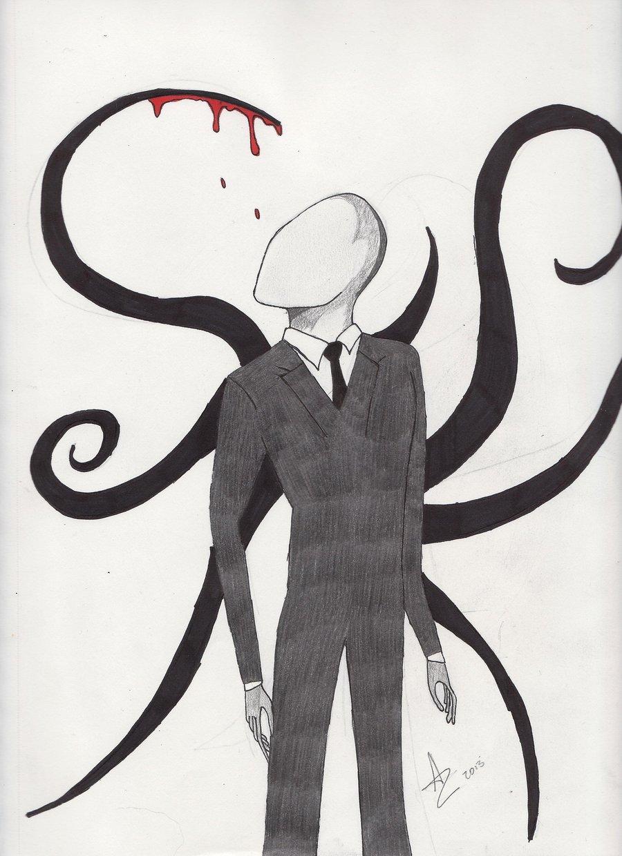 Drawn slender man landscape Life22 Wallpapers DeviantArt Man Drawing