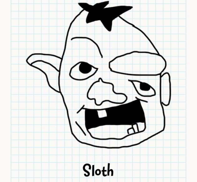 Drawn sloth Drawn Cheats Badly Faces Sloth