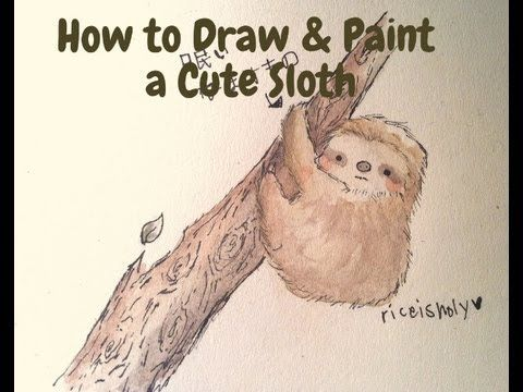 Drawn sloth adorable puppy YouTube and a Pinterest Paint