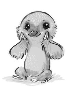 Drawn sloth baby sloth Cute drawing cute Search Google