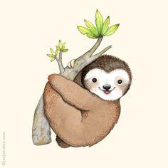 Drawn sloth baby sloth Pinterest S painting U sketchbook