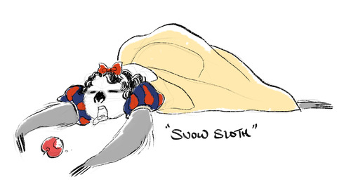 Drawn sloth dressed  Sloths Dressed Princesses Disney