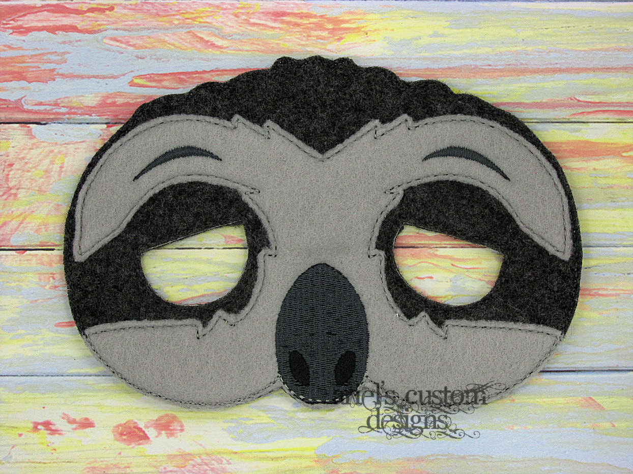 Drawn sloth dressed Birthday Masks Party Sloth Sloth