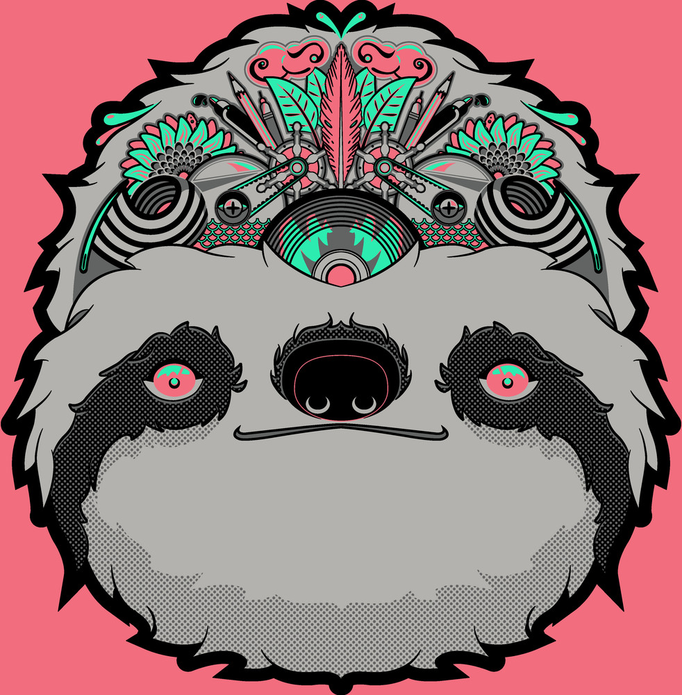 Drawn sloth graffito Chai Something Robbins Endeavors: &