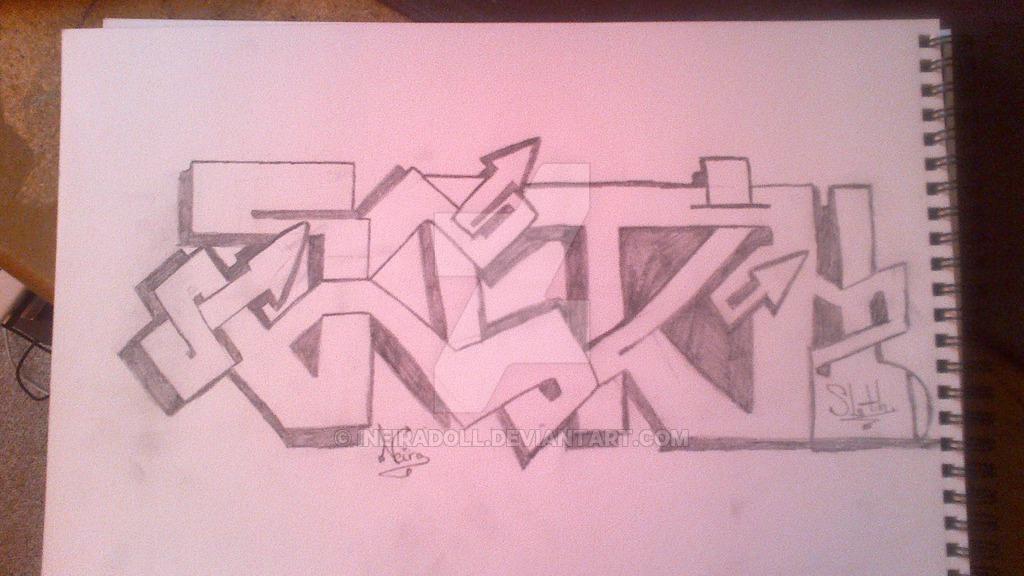 Drawn sloth graffito On Sloth~ iNeiraDoll Graffiti DeviantArt