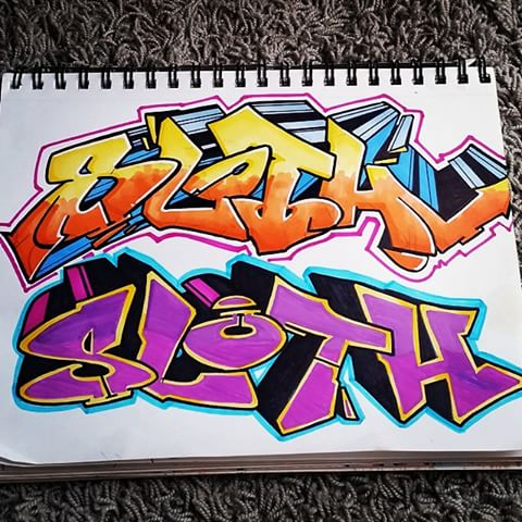 Drawn sloth graffito Photos Marco #sketch Ramires and