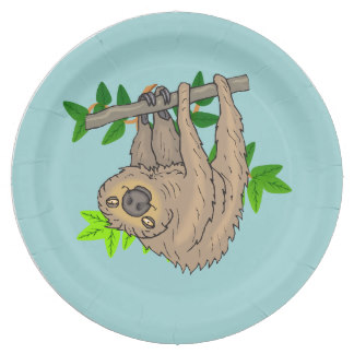 Drawn sloth hanging on tree Gifts Hanging Paper Sloth On