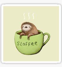 Drawn sloth kawaii Sloffee Redbubble Sticker Stickers Drawing:
