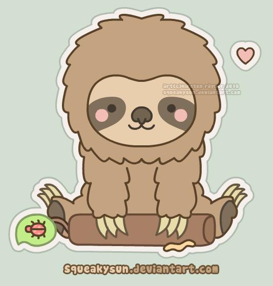 Drawn sloth kawaii Sloth Tumblr drawing Drawing Sloth