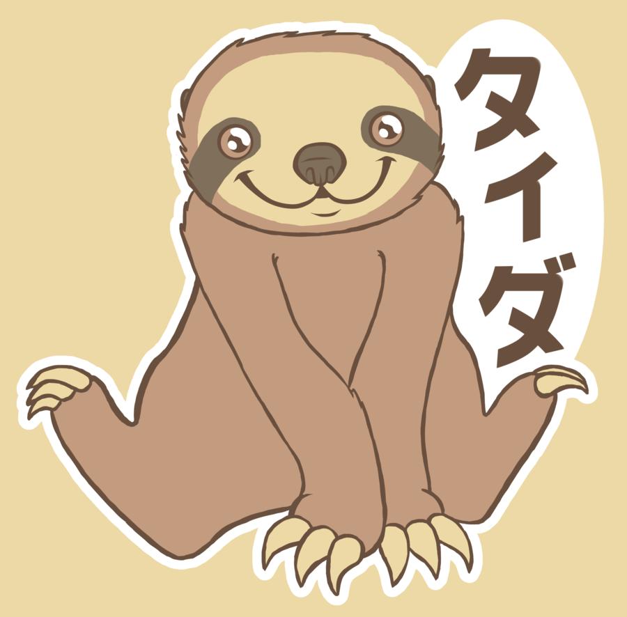 Drawn sloth kawaii Explore Sloth  158470089 deviantart