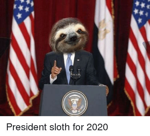 Drawn sloth president Memes and  Sloth