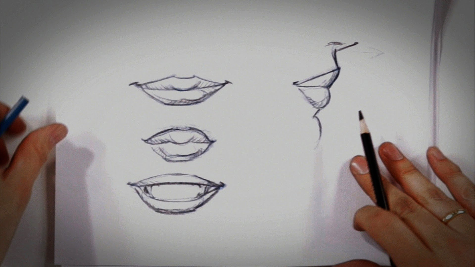 Drawn smile Tips How to Lips Draw