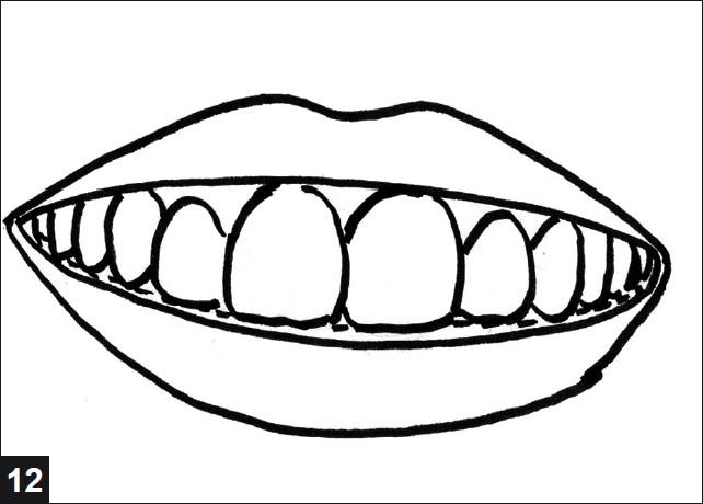 Drawn smile Of the 12: border smile