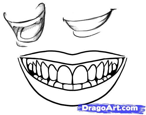 Drawn smile Smile to to a draw