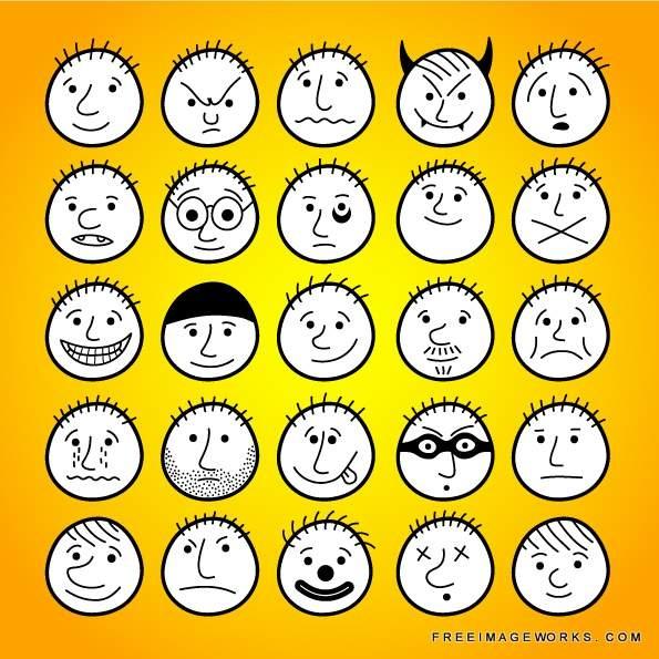 Drawn smile angry Face cartoon best avatars cartoon