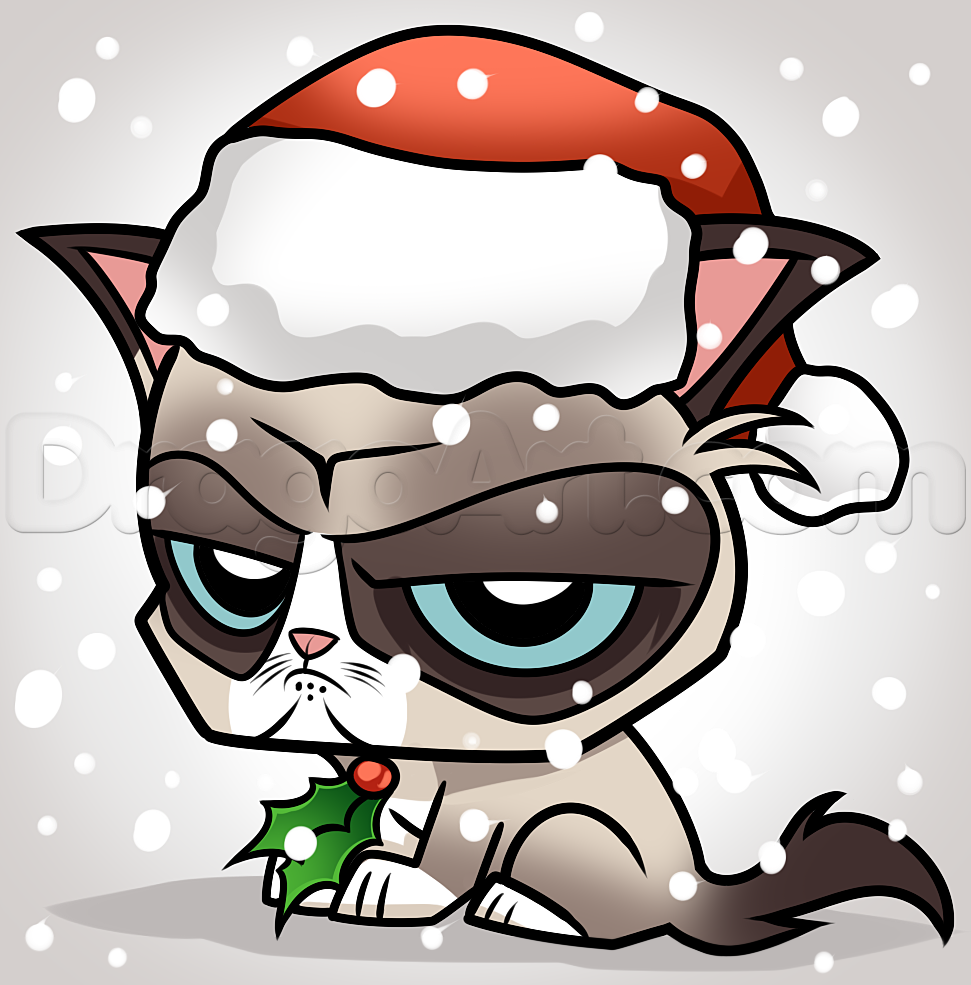 Grumpy Cat clipart easy cat How Step  by Grumpy