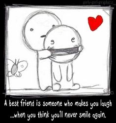 Drawn smile best friend Draw laugh makes cool when