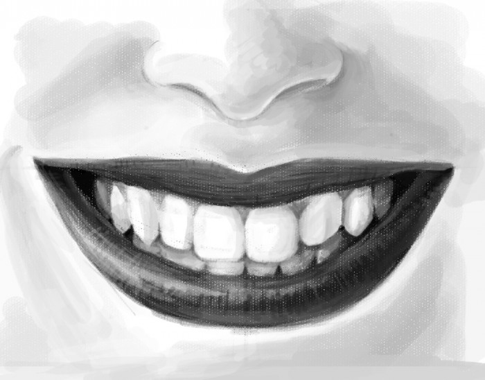 Drawn smile funny Mouth Tutorial Techcomix Digital Girl's