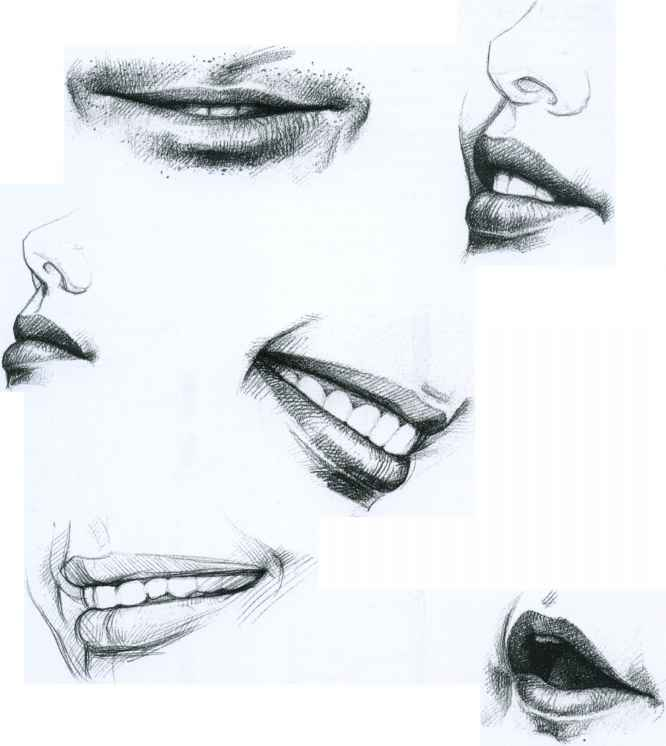 Drawn photos mouth Giovanni Faces Sketching Drawing The