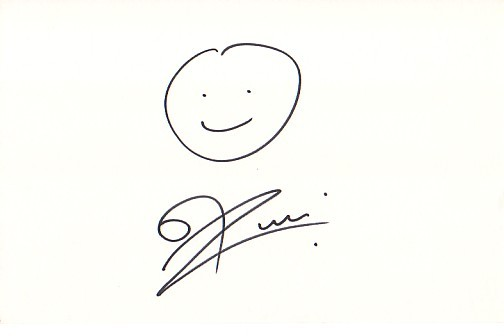 Drawn smile hand drawn Rob Rob sale Autographed for