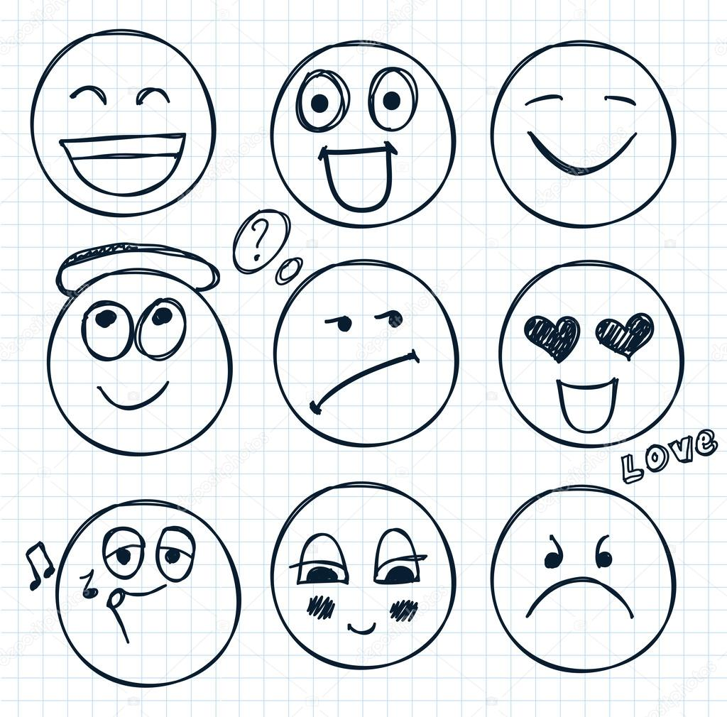 Drawn smile hand drawn Isolated Vector — Vector smiles