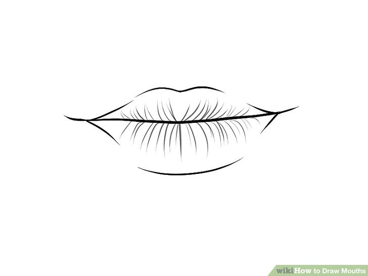 Drawn smile lip Draw 4 Draw to Step