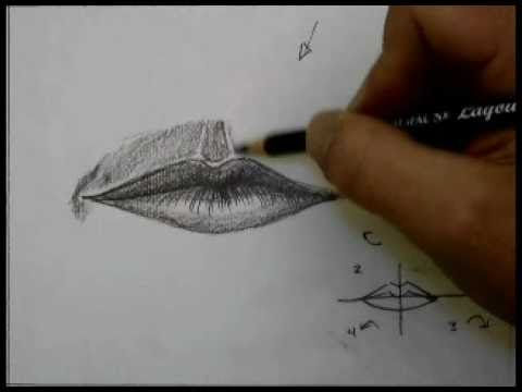 Drawn smile lip Draw How Mouth a a