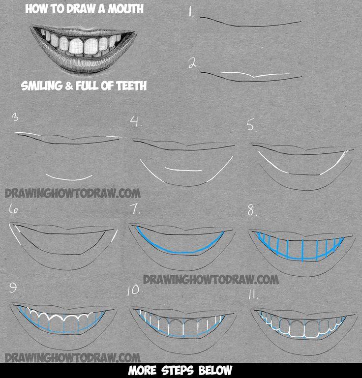 Drawn smile lip Mouth Draw Pinterest 25+ of