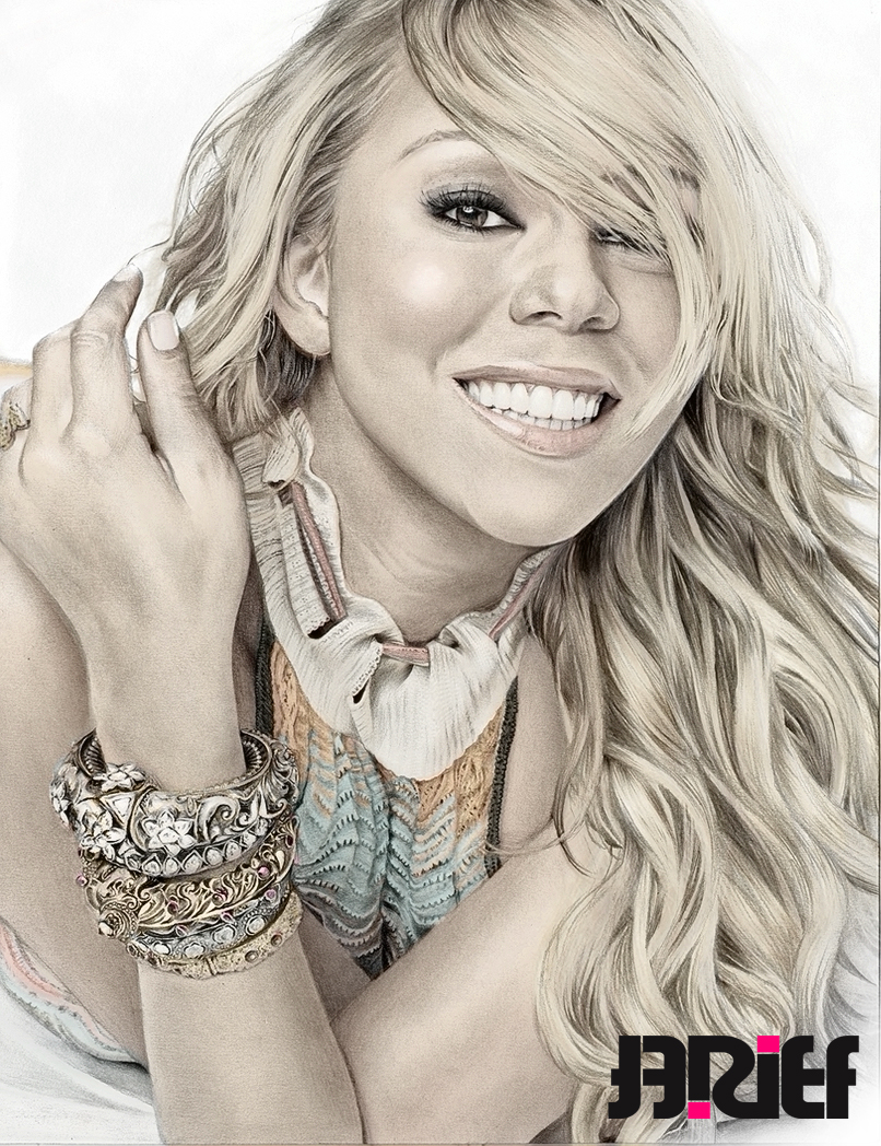 Drawn smile mariah carey Riefra Glamor pencil by in