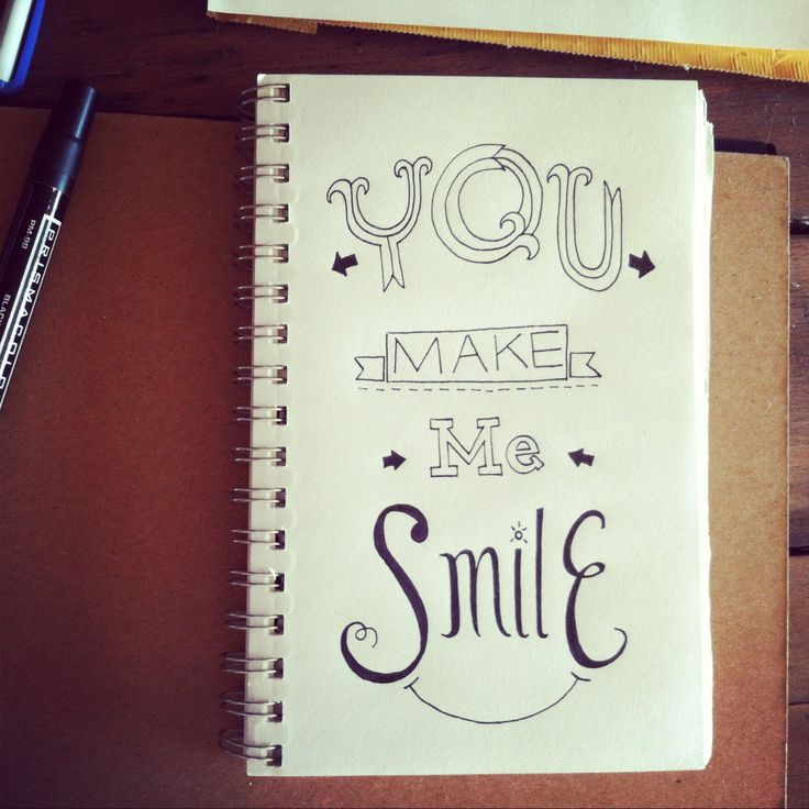 Drawn smile quote For make images me best