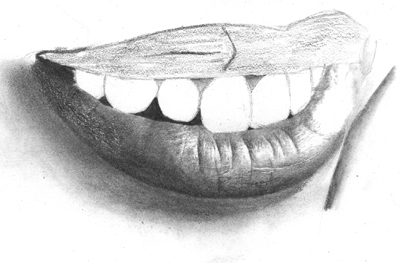 Drawn teeth human OnlyPencil and Realistic Mouth Drawing