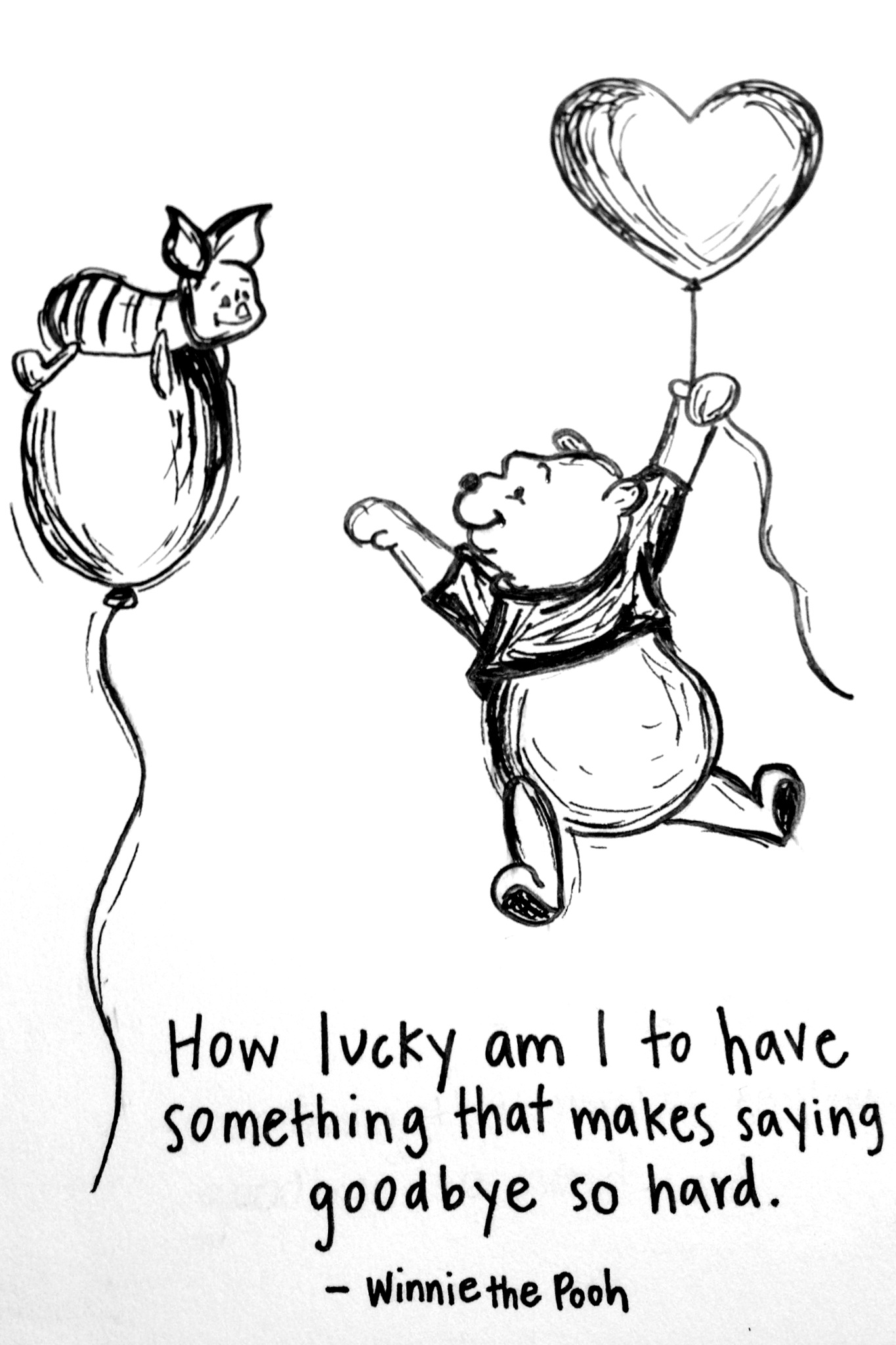 Drawn quote lucky By lucky the Hand I