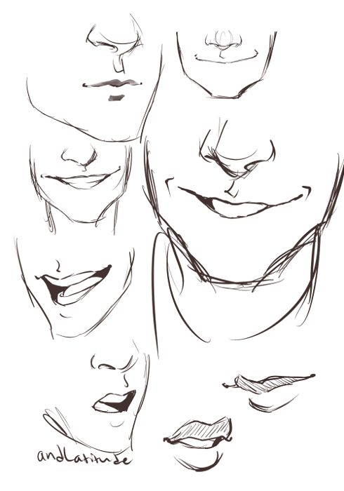Drawn smile smirk Mouth Pinterest drawing iAnimate at