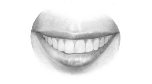 Drawn smile step by step To mouth_drawing_tutorial Drawing How Tutorials: