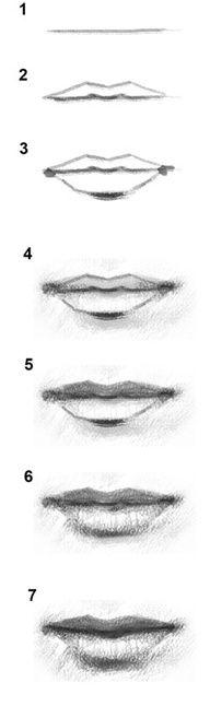 Drawn smile step by step @deviantART 17 Delnum Draw Help