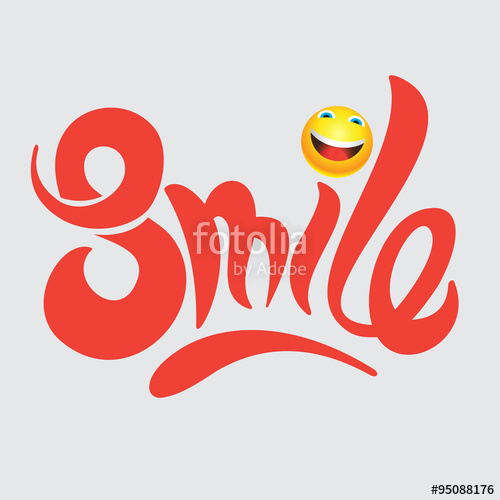 Drawn smile vector Hand Smile drawn