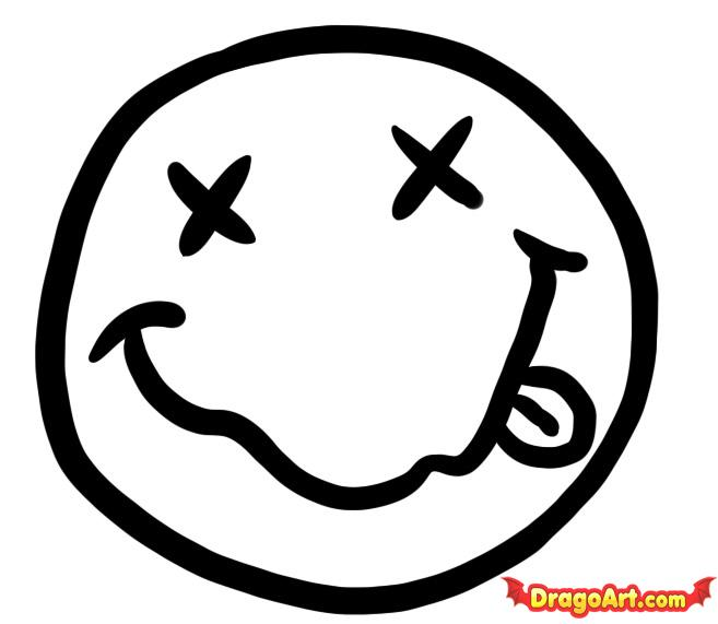 Drawn smile smiley face To how  Step Logos