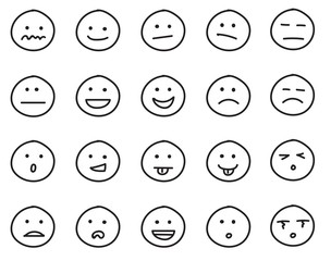 Drawn smileys Drawing of Collection smileys of