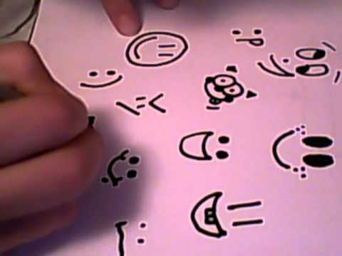 Drawn smile silly YouTube Draw Faces Smiley 15