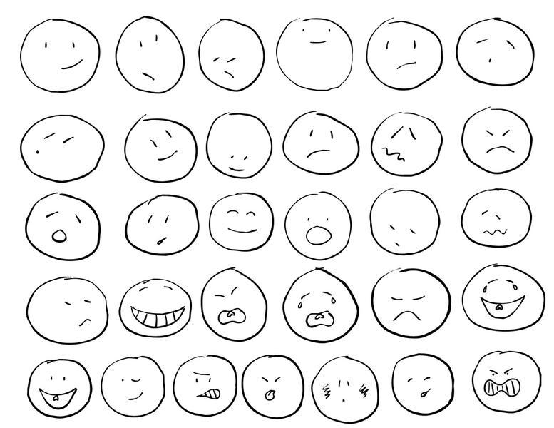 Drawn smileys Emoticon Drawn Emoticon Shapes Drawn