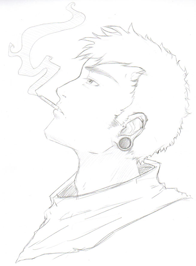 Drawn smoking Smoking Smoking Guy by Man