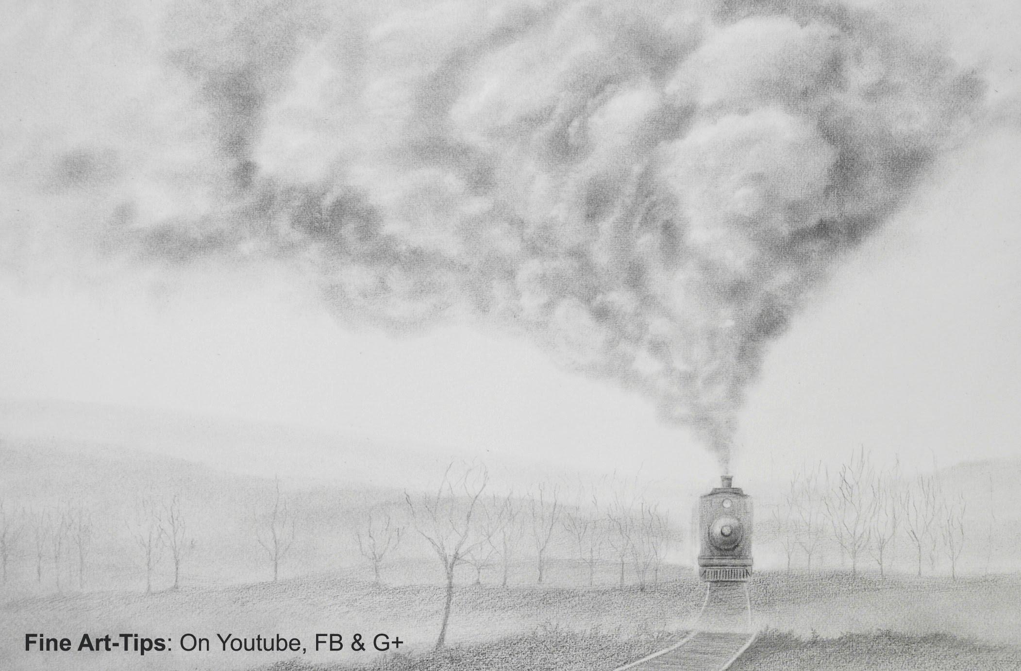 Drawn smoke Draw Train a How Realistic